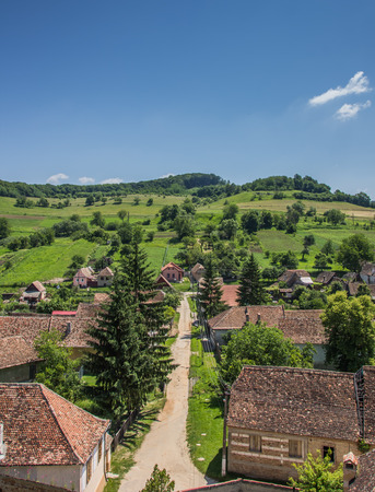 biertan: View over Biertan, Romania from the tower of the fortified church