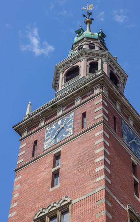 leer: Tower of the Rathaus in Leer, Germany Stock Photo