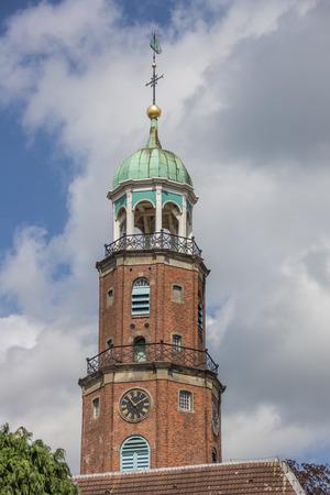 evangelical: Tower of the evangelical church in Leer, Germany