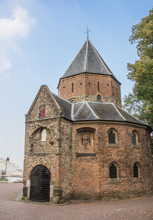 nicolaas: Sint Nicolaas church and waalbrug in Nijmegen, Holland
