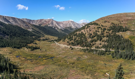 treeline: Independence pass in the rocky mountains, USA Stock Photo