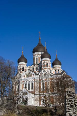 nevsky: Aleksandr Nevsky russian orthodox cathedral in Tallinn, Estonia