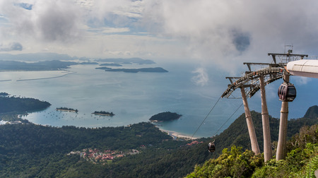 langkawi island: Cable car to the top of Langkawi island, Malaysia