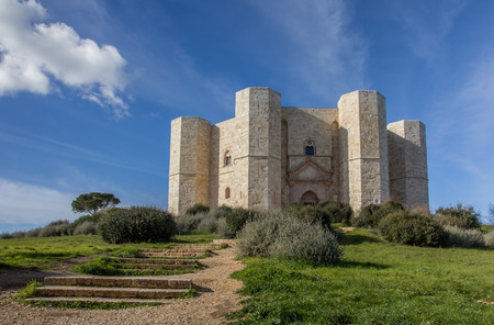 Steps leading to the Castel Del Monte in Italy