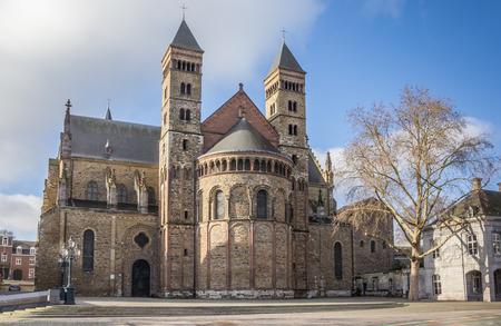 Saint Servatius church at the Vrijthof in Maastricht, Holland