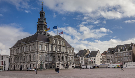 City hall on the central market square in Maastricht, Holland