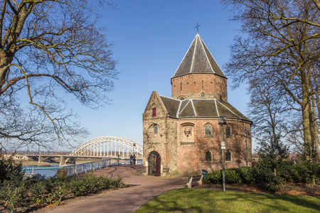 nicolaas: Sint Nicolaas church and waalbrug in Nijmegen, Netherlands Editorial