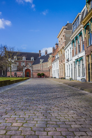 groningen: Old houses and the Prinsenhof at the Martinihof in Groningen, Netherlands