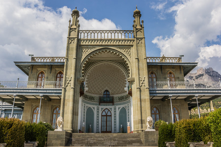 vorontsov: Front of the Vorontsov Palace near  Alupka, Ukraine