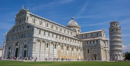 piazza dei miracoli: Duomo and the leaning tower of Pisa, Italy Editorial