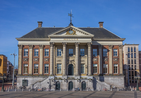 groningen: City hall in the center of Groningen, Holland