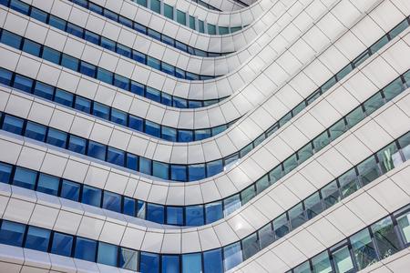 comtemporary: Facade of a comtemporary office building in Groningen, Netherlands Editorial