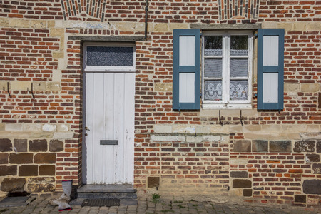 leuven: Door of an old house at the Vlierbeek abbey in Leuven, Belgium Editorial