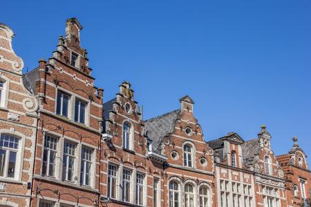 leuven: Historical facades at the old market square in Leuven, Belgium