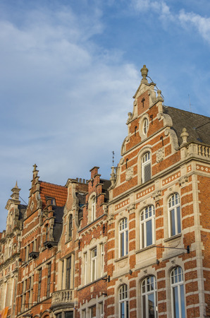 gable house: Historical facades at the old market square in Leuven, Belgium