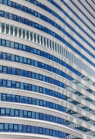 groningen: Detail van een modern kantoorgebouw in Groningen
