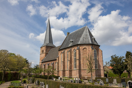 cemetary: The church of Groesbeek and cemetary in Gelderland, the Netherlands