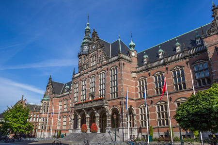 groningen: Main building of the Groningen University in The Netherlands