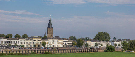Panorama of the historical center of Zutphen, Holland