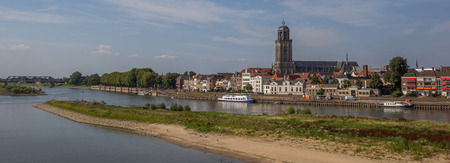 ijssel: Panorama of the historical center of Deventer, The Netherlands