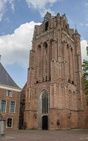 Historische kerk in het centrum van Wijk bij Duurstede, Nederland Stockfoto - 45004155