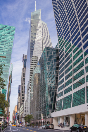 bank of america: Bank of America Tower in New York City, USA