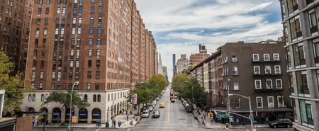 chelsea: Panoramic view from the high line in Chelsea, New York Editorial
