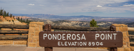 ponderosa: Sign at Ponderosa Point in Bryce Canyon National Park, USA