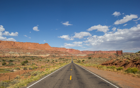 Highway 12 south of Torrey and Capitol Reef in Utah, USA Stock Photo