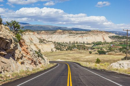 time drive: Scenic byway 12 near Boulder in Utah, USA