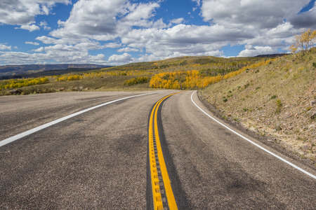 byway: Scenic Byway 12 at the top of Boulder Mountain in Utah, America