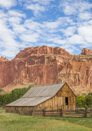 homestead: Barn of the Gifford homestead in Capitol Reef, Utah, USA