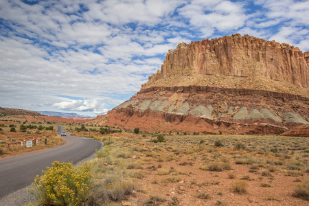 scenic drive: Scenic drive in Capitol Reef National Park, Utah, United States