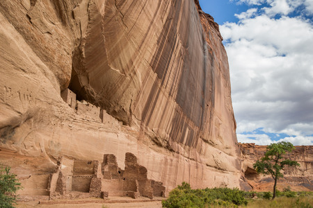 White house ruins in Canyon de Chelly National Monument, Arizona, America
