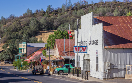 main street: Main street in Coulterville, California, United States