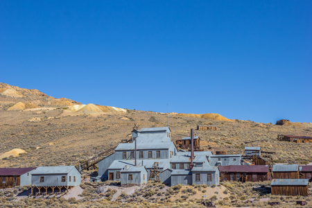 goldmine: Old factory in Bodie State Historic Park, California, America