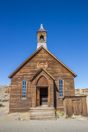 old church: Old church in abandoned ghost town Bodie, California, USA