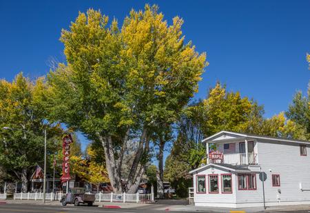 main street: Autumn colors in main street Bridgeport, California, America
