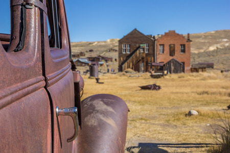 rusty car: Detail of a rusty car in Bodie State Park, California, USA