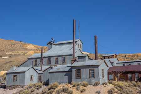 goldmine: Abandoned factory in Bodie State Park, California, America