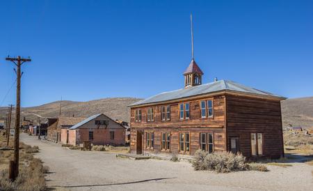 bodie: Old School in Bodie State Historic Park, California, America Stock Photo