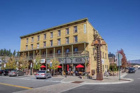 main street: Hotel in Main street Truckee, California, USA