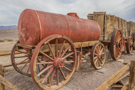 Water tank car at Harmony Borax in Death Valley National Park, USA