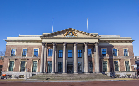 courthouse: Front of the courthouse in Leeuwarden, Holland