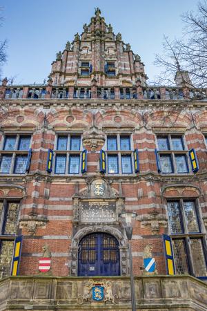 leeuwarden: Facade of the kanselarij building in Leeuwarden, Netherlands