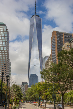 freedom tower: Freedom tower world trade center in New York City, USA Editorial