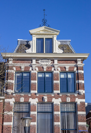 leeuwarden: Old house in the historical center of Leeuwarden, Netherlands Editorial