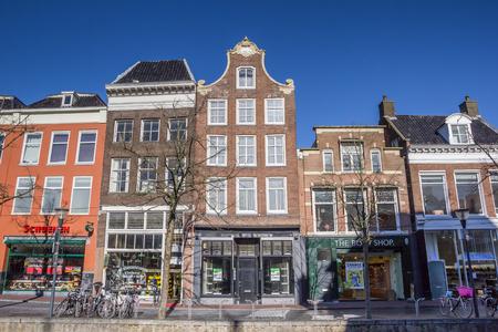 leeuwarden: Row of typical dutch houses in Leeuwarden, Holland