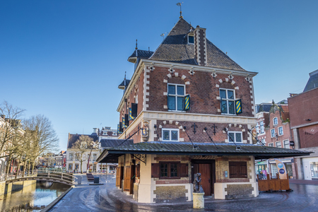 leeuwarden: Old weigh house in the historical center of Leeuwarden, Netherlands