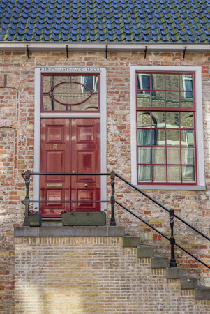 leeuwarden: Front of a historical house in Leeuwarden, Netherlands